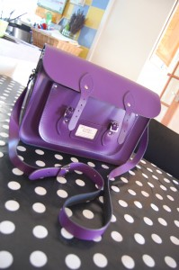 The Leather Satchel Co Purple