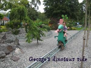 George's Dinosaur Ride at Peppa Pig World