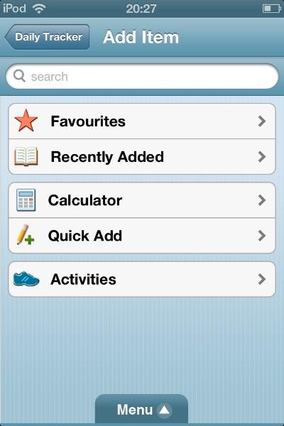 WeightWatchers app options