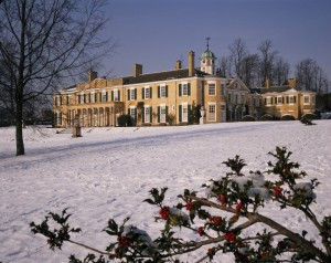 Polesden Lacey in snow ©National Trust Images Nick Meers