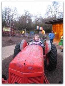 Battersea Park Children's Zoo tractor