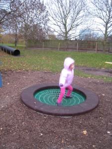 Battersea Park Children's Zoo outdoor weatherproof trampoline