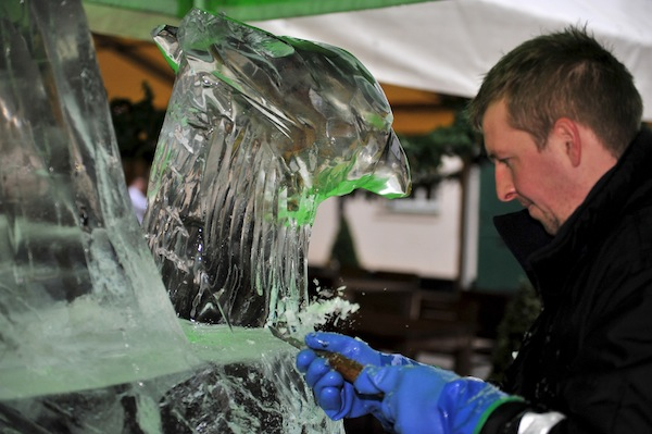 Ice Sculptures at Polesden Lacey