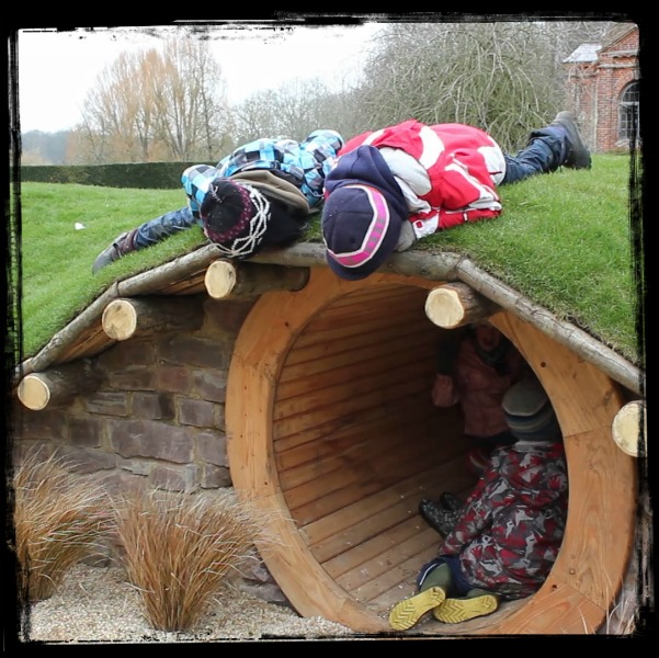 The Vyne - Hidden Realm, children in and on tunnel, credit Martin Parsons