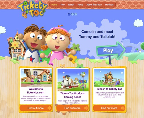 Tickety Toc Homepage