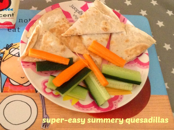 easy lunchtime quesadillas
