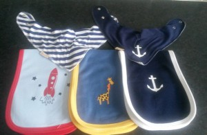 Funky Giraffe - Bibs and burp cloths front