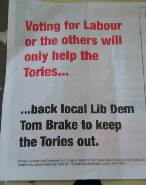 Lib Dem Election Campaign