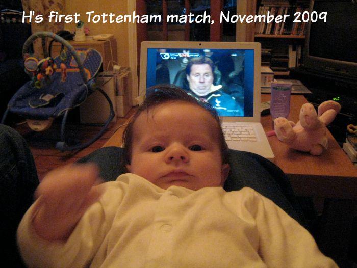 H watching tottenham