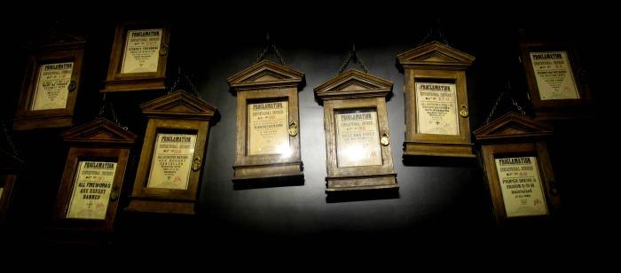 Harry Potter tour delores umbridge regulation notices