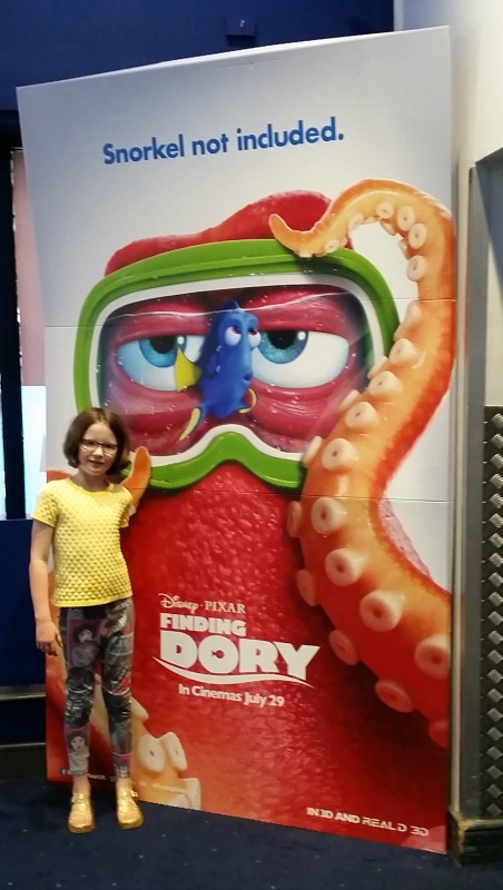 Finding Dory H with poster