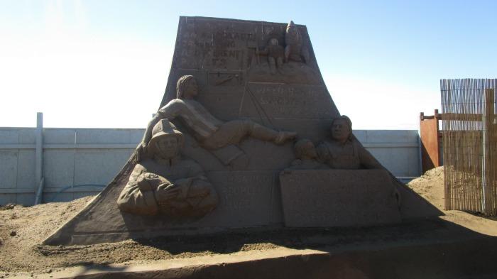 our summer - Weston Super Mare Sand Sculpture
