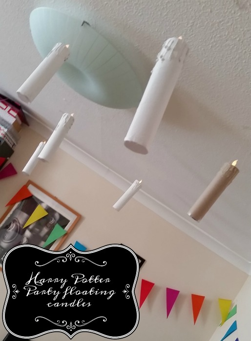 Harry Potter Fantastic Beasts themed party floating candles