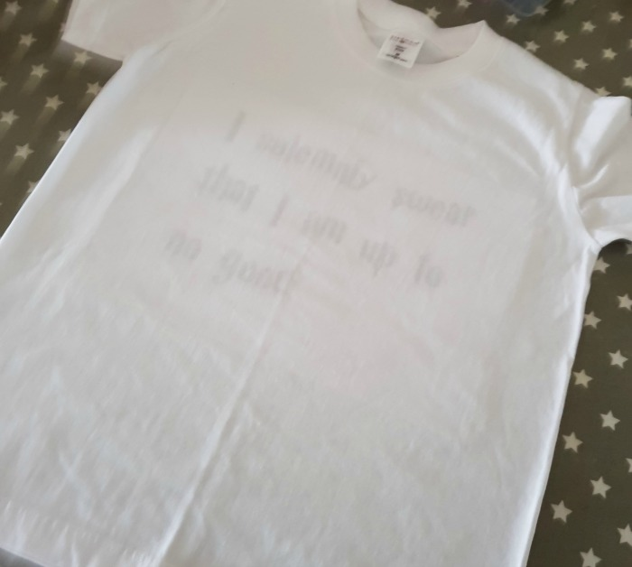 harry potter t shirt tracing