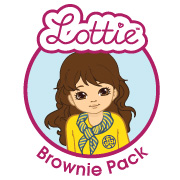 Lottie Brownie Pack Badge, Lottie Blogger Brownie Pack