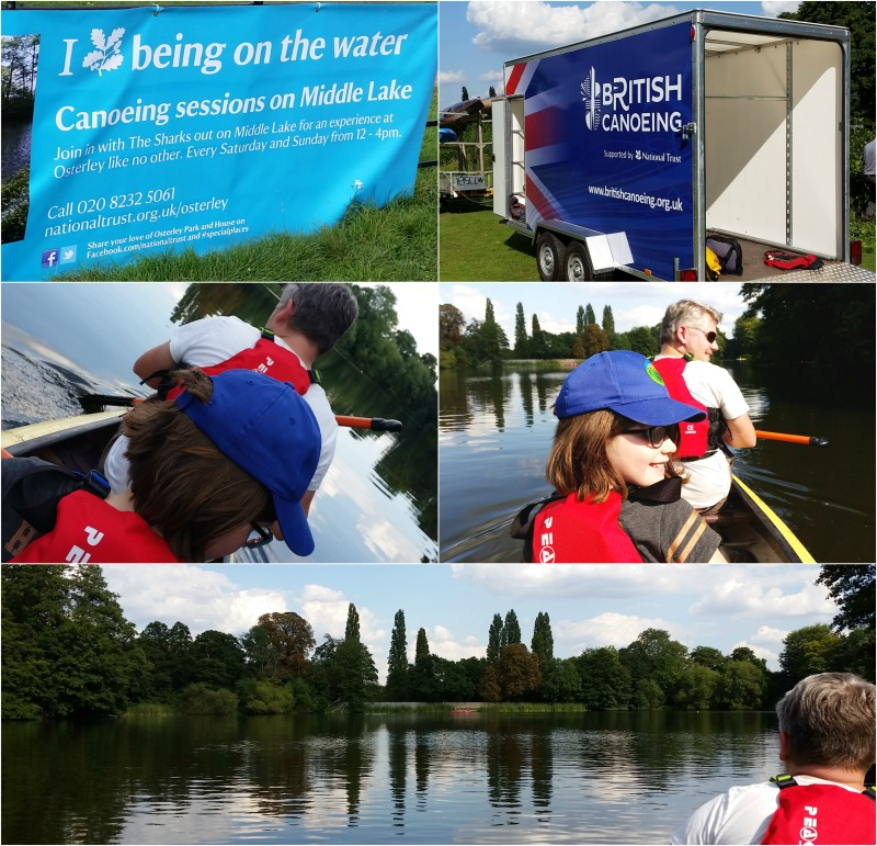 Canoeing at Osterley Park and House