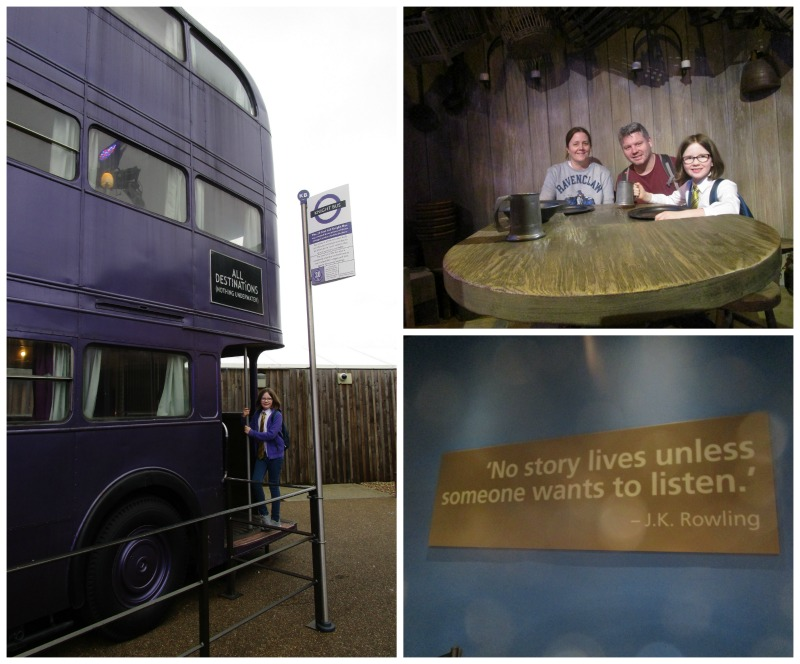 Warner Brothers Studio Tour Night Bus, JK Rowling Quote and around a table