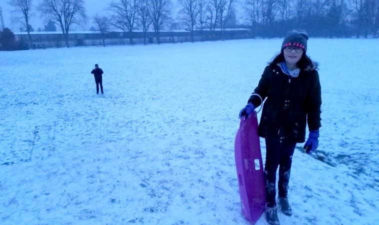 Sledging at The Wrythe, Carshalton
