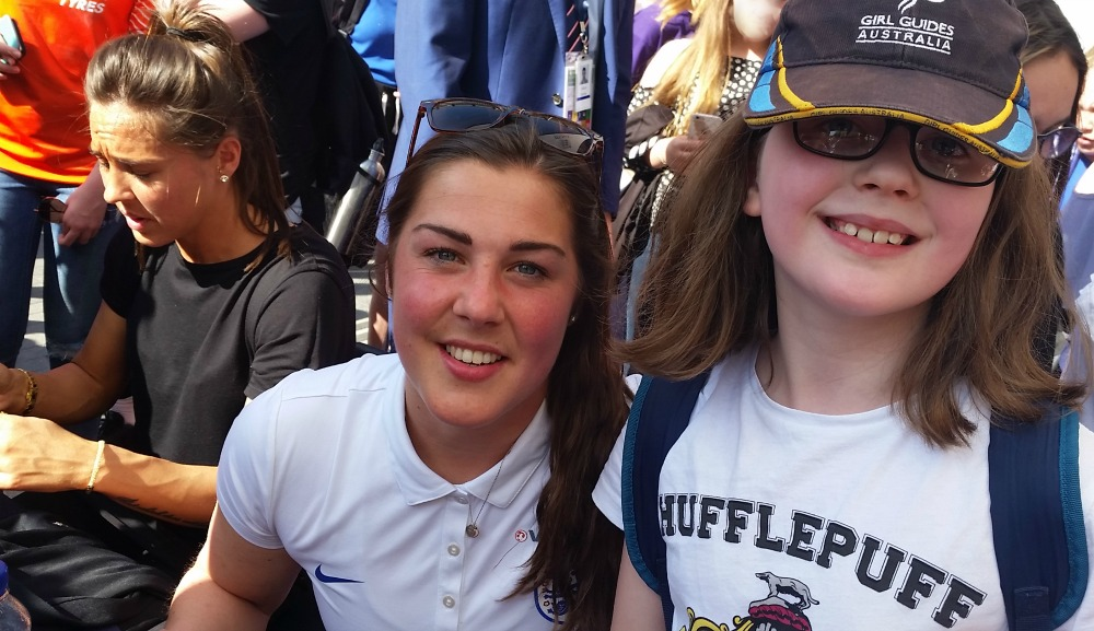 H with Fara Williams and Mary Earp, Women's FA Cup Final 2018