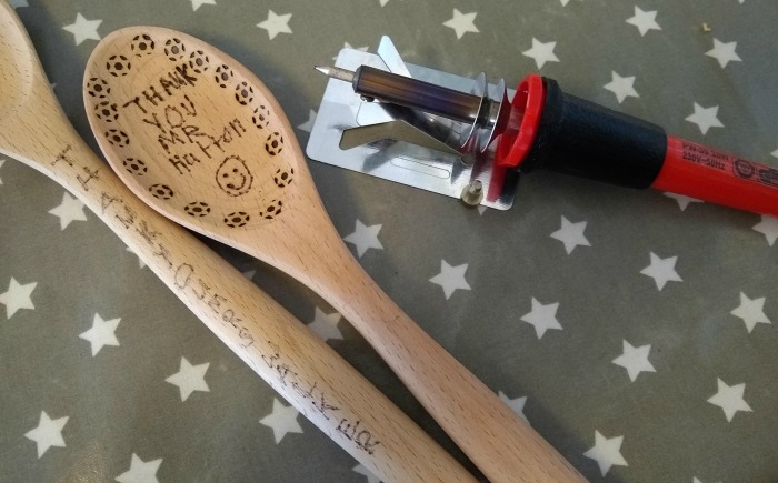 Spoons for teachers using a wood burning tool, still needs to be gone over again but you get the idea of how it will look